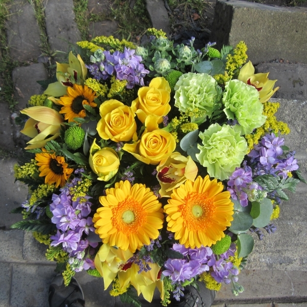 Funeral Posy bright