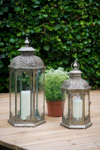 Lanterns with candles
