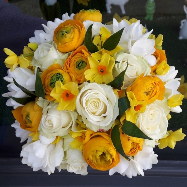 Easter Bridal bouquet with ranunculus